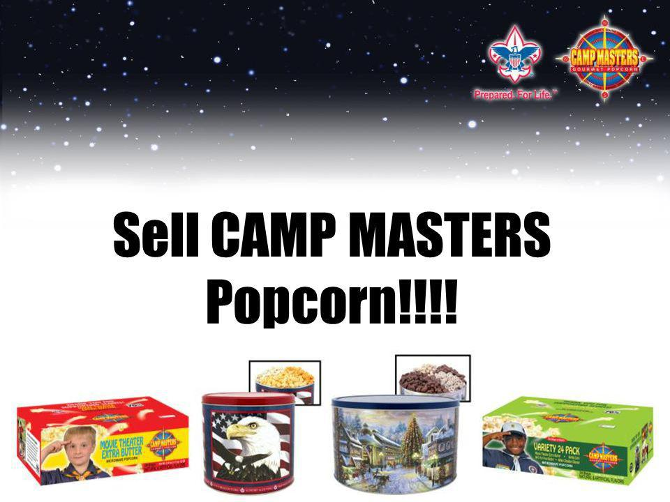 Sell CAMP MASTERS Popcorn!!!!