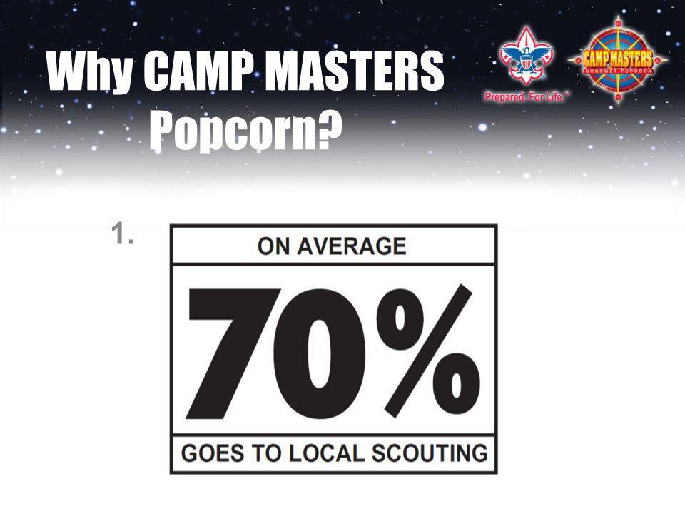 Why CAMP MASTERS Popcorn? 1.