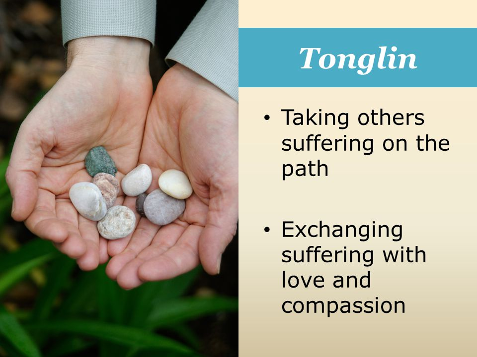 Tonglin Taking others suffering on the path Exchanging suffering with love and compassion