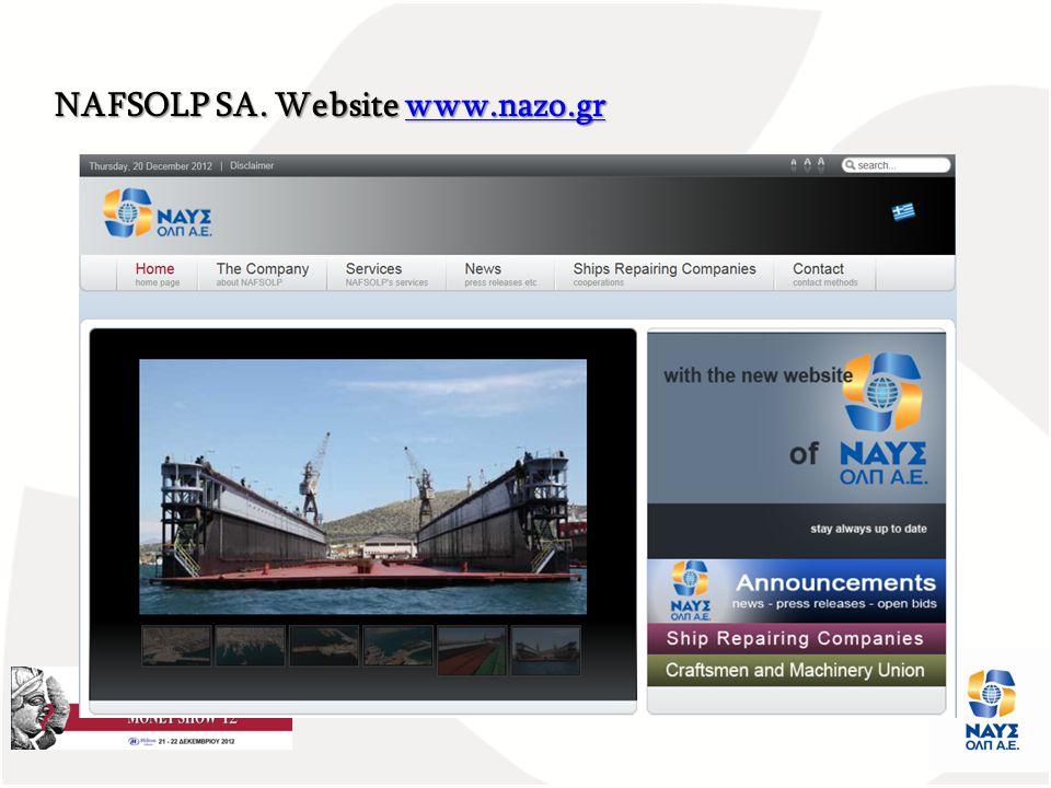 NAFSOLP SA. Website www.nazo.gr www.nazo.gr