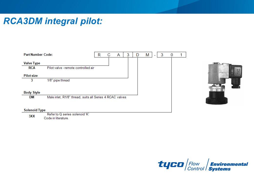 RCA3DM integral pilot: