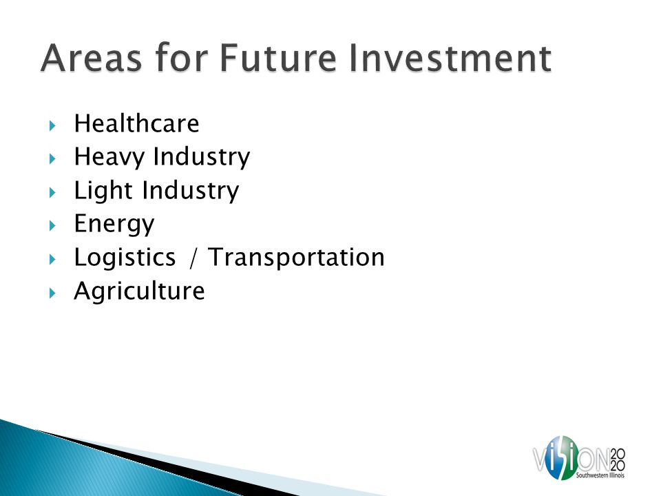 Healthcare Heavy Industry Light Industry Energy Logistics / Transportation Agriculture