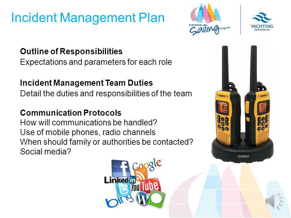 Incident Management Plan Organisational Chart