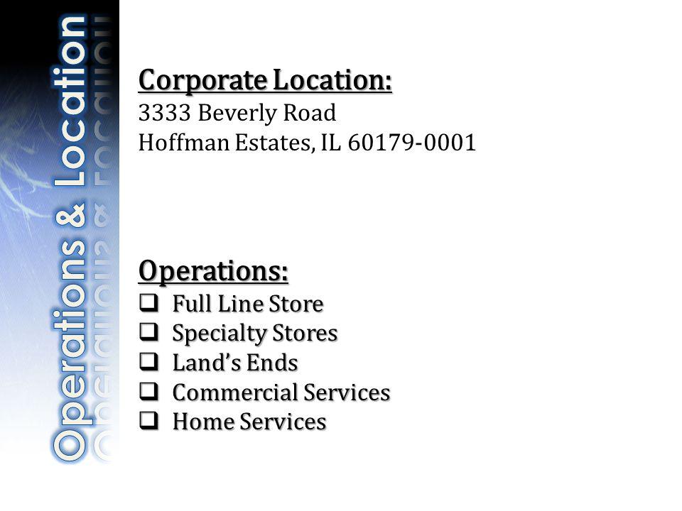 Subsidiary Closures: Subsidiary Closures: Kmart Stores will close.