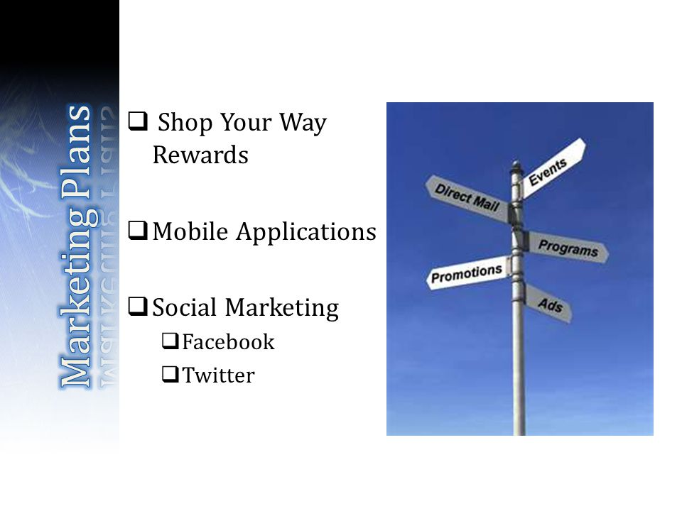 Shop Your Way Rewards Mobile Applications Social Marketing Facebook Twitter