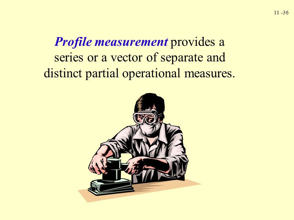 11 -36 Profile measurement provides a series or a vector of separate and distinct partial operational measures.