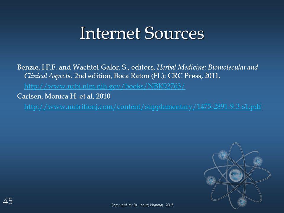 45 Internet Sources Benzie, I.F.F.