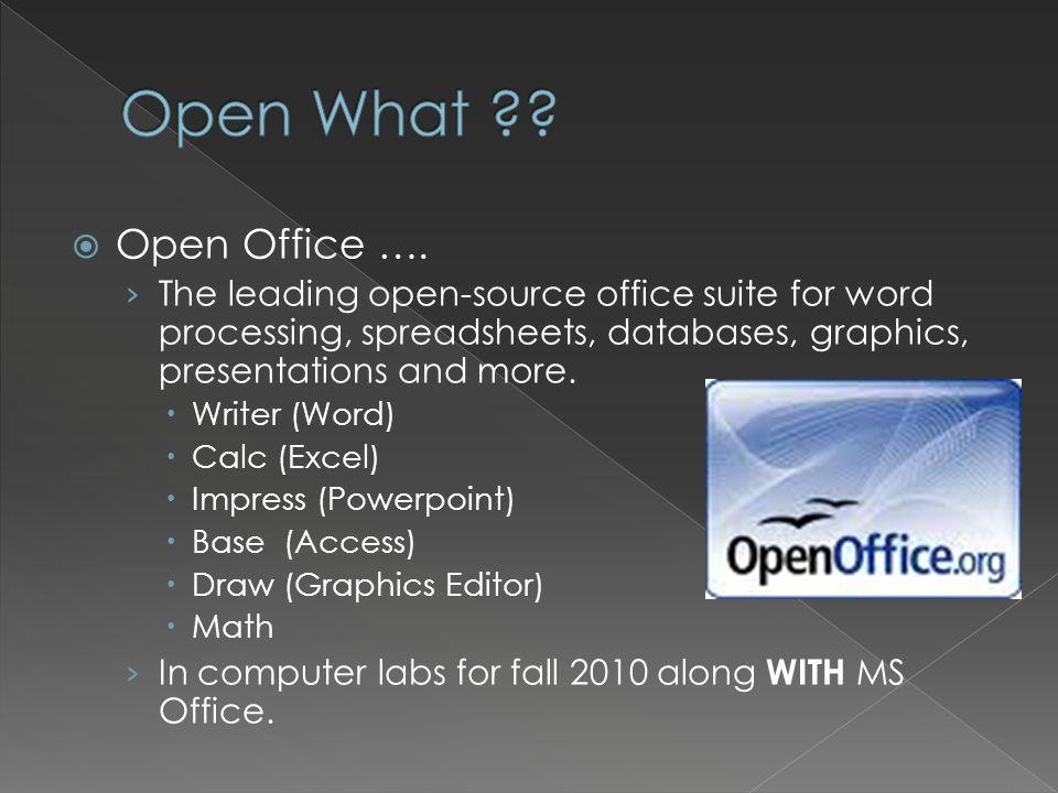 Open Office ….