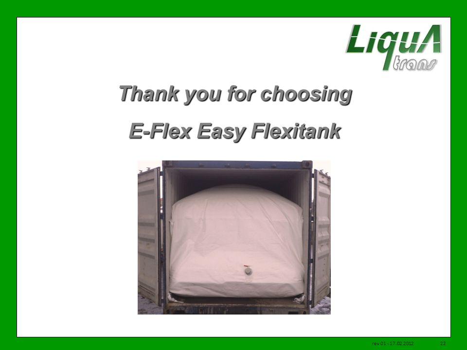 Thank you for choosing E-Flex Easy Flexitank rev 01 - 17.02.201222