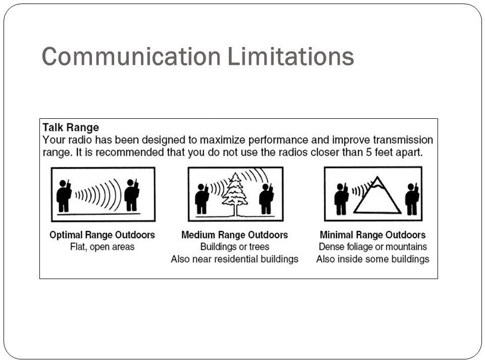 Communication Limitations