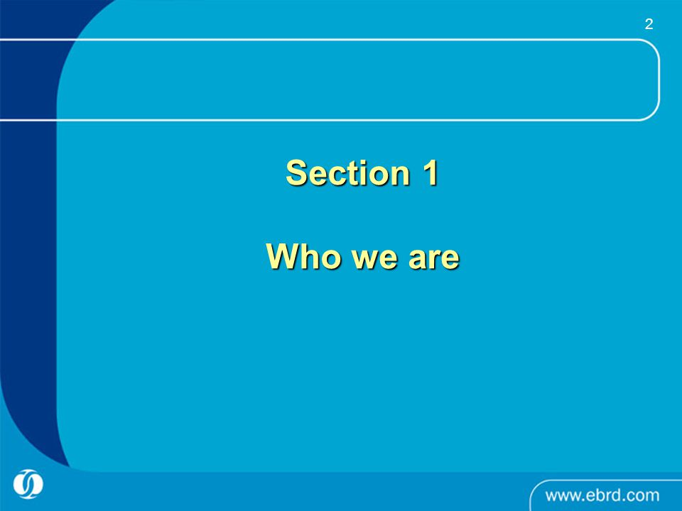 2 Section 1 Who we are