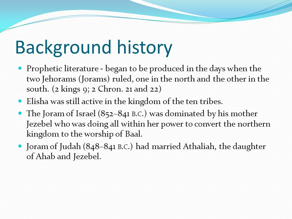 Purpose of Literary Prophets non-literary prophets focused on events of their own day.