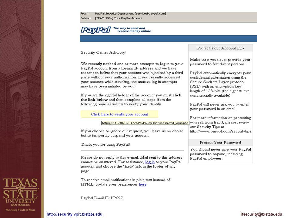 itsecurity@txstate.eduhttp://security.vpit.txstate.edu