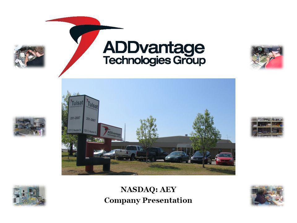 1 NASDAQ: AEY Company Presentation