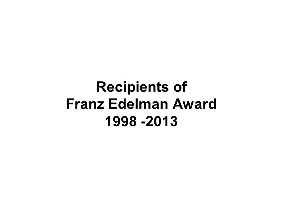 Recipients of Franz Edelman Award 1998 -2013
