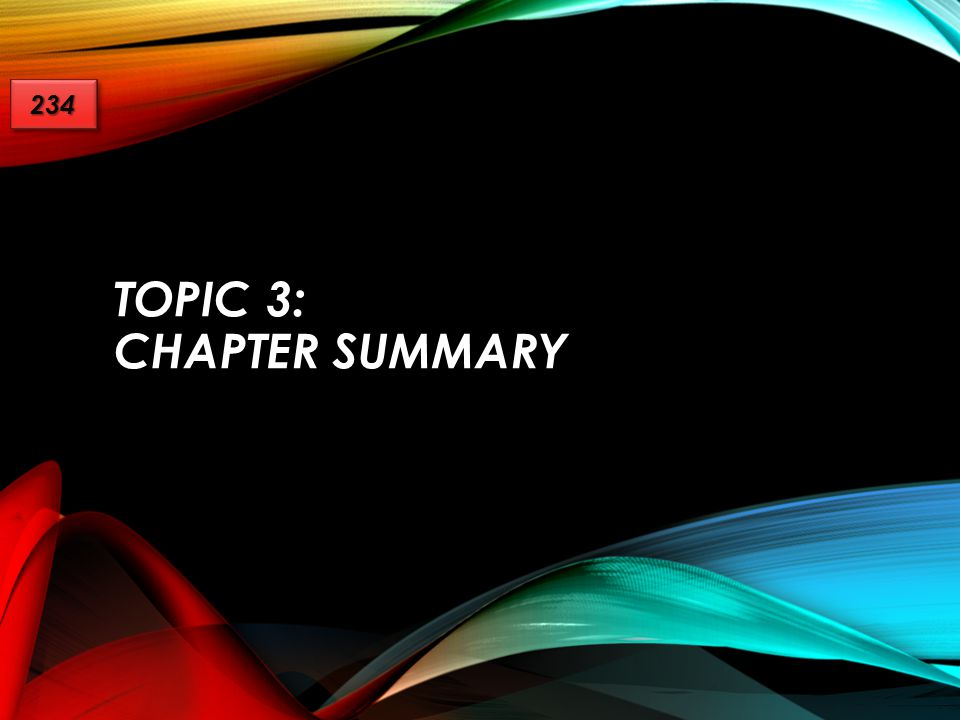 TOPIC 3: CHAPTER SUMMARY 234234