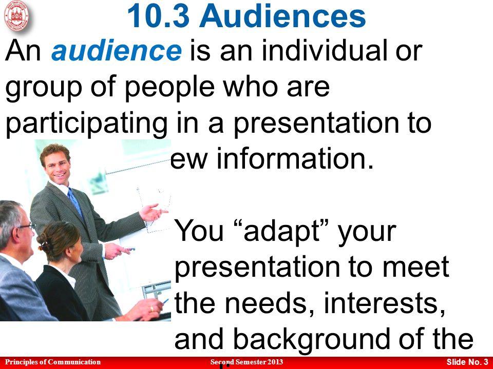Principles of CommunicationSecond Semester 2013 Slide No.
