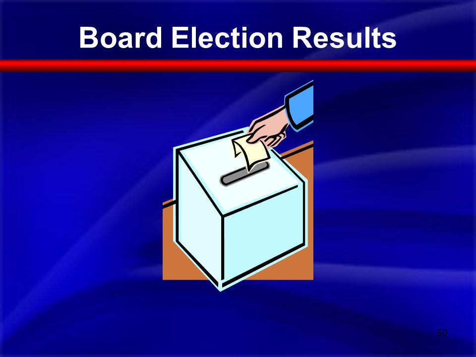 Board Election Results 50