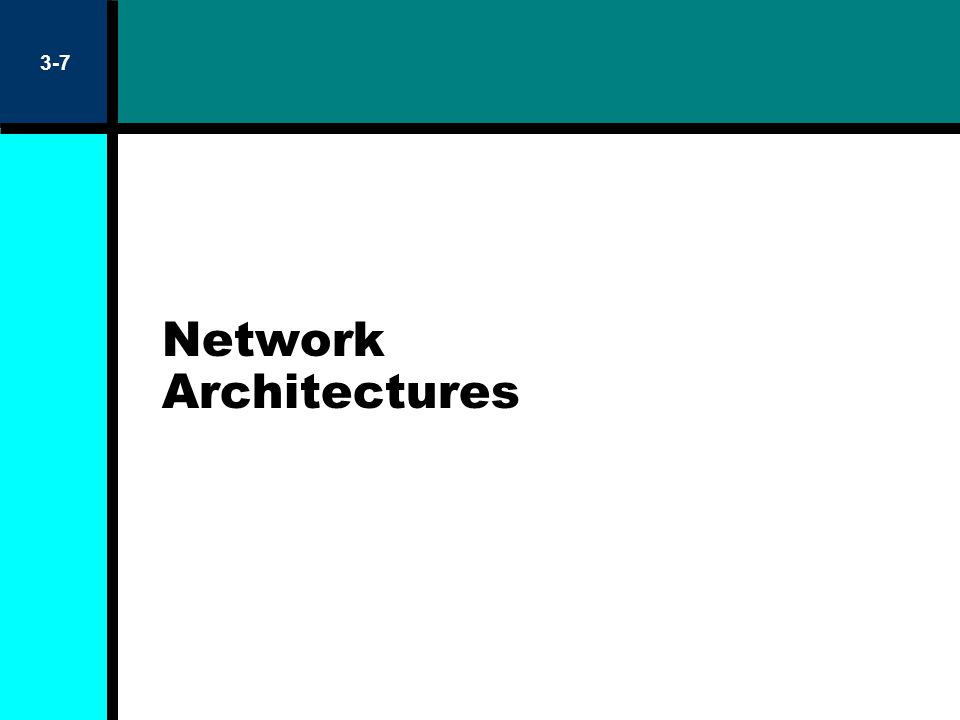 Network Architectures 3-7