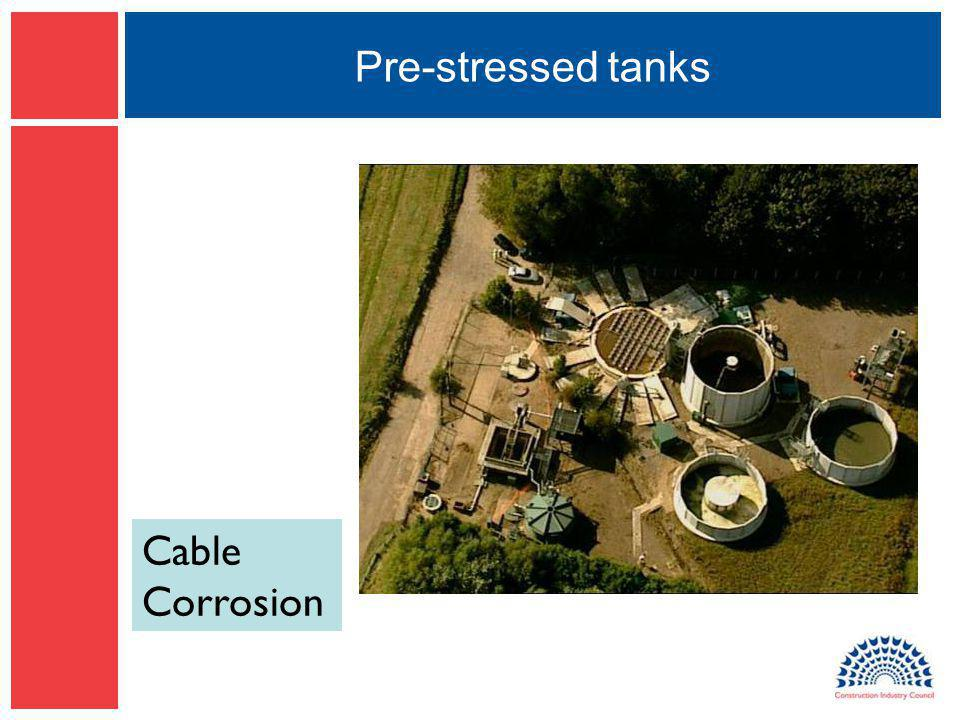 Pre-stressed tanks Cable Corrosion