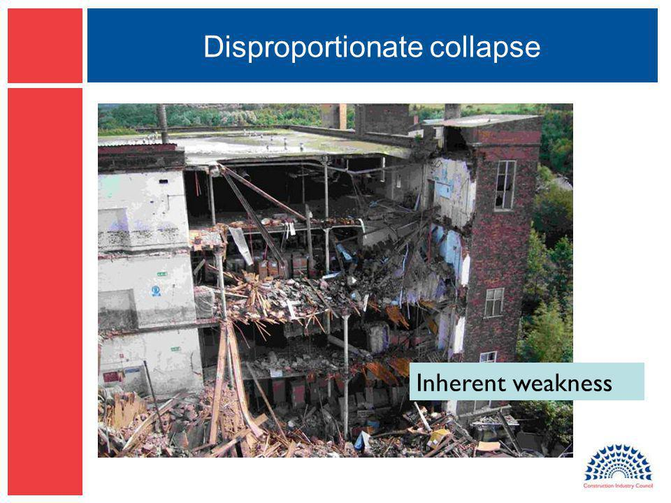 Disproportionate collapse Inherent weakness