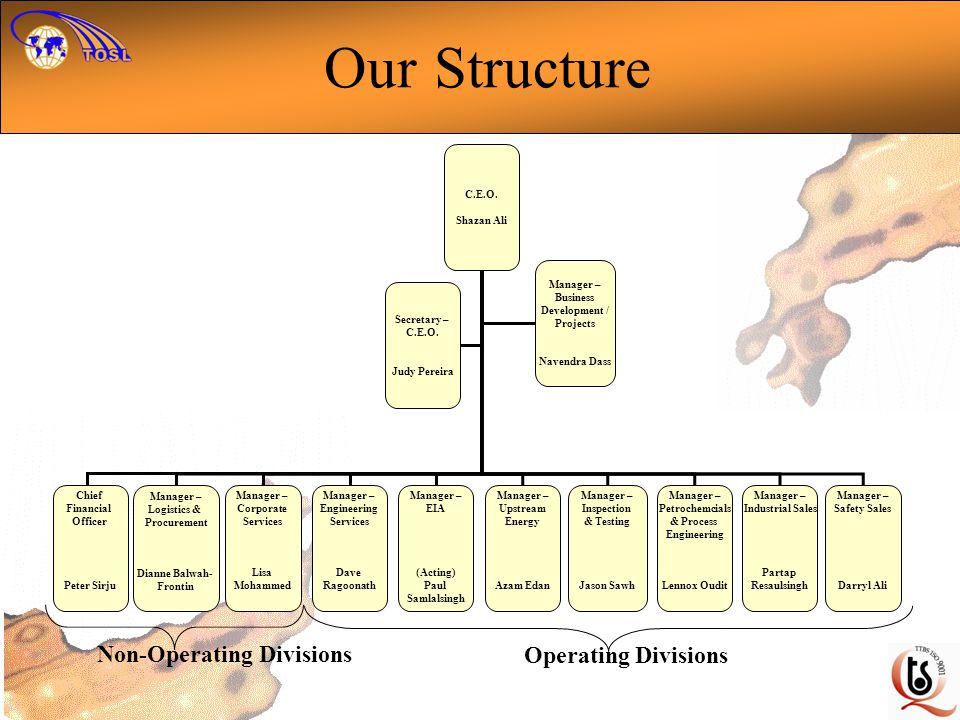 Our Structure C.E.O.