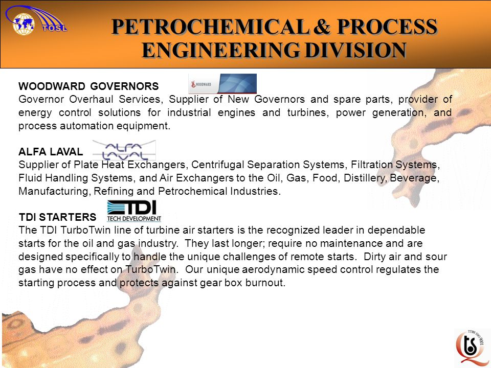 WOODWARD GOVERNORS Governor Overhaul Services, Supplier of New Governors and spare parts, provider of energy control solutions for industrial engines and turbines, power generation, and process automation equipment.