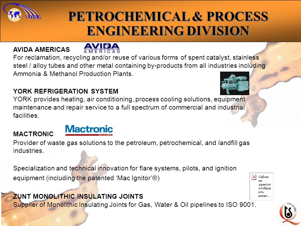 AVIDA AMERICAS For reclamation, recycling and/or reuse of various forms of spent catalyst, stainless steel / alloy tubes and other metal containing by