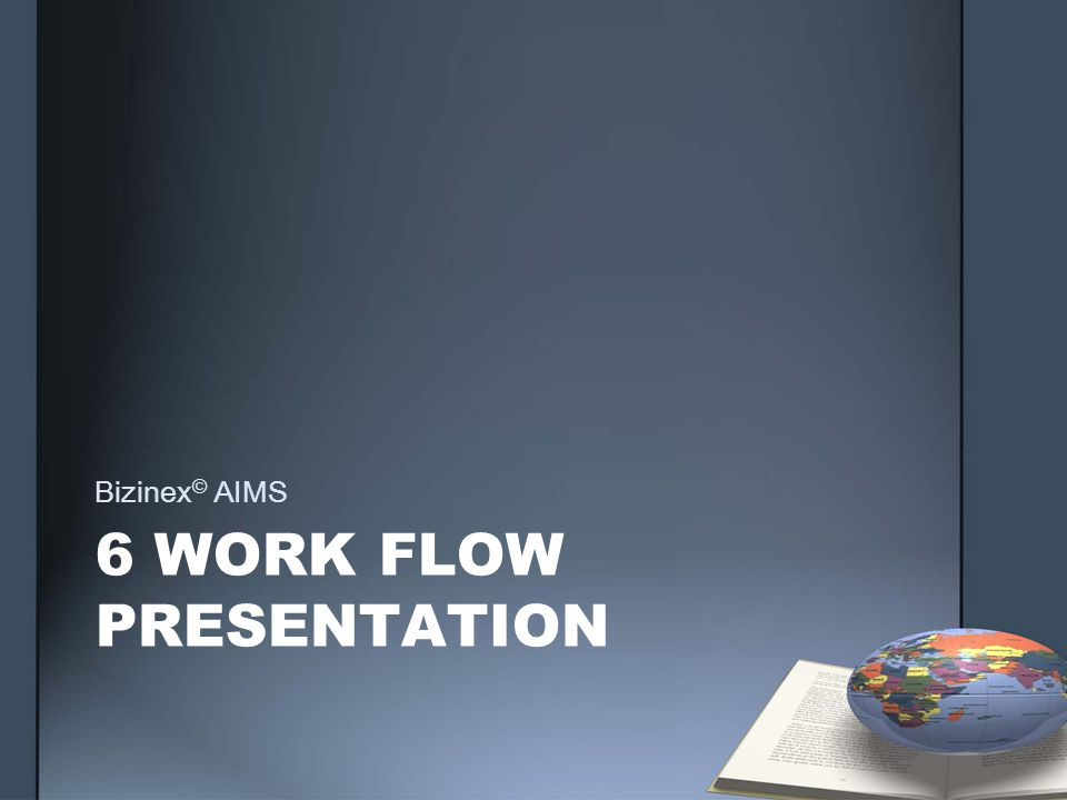 6 WORK FLOW PRESENTATION Bizinex © AIMS