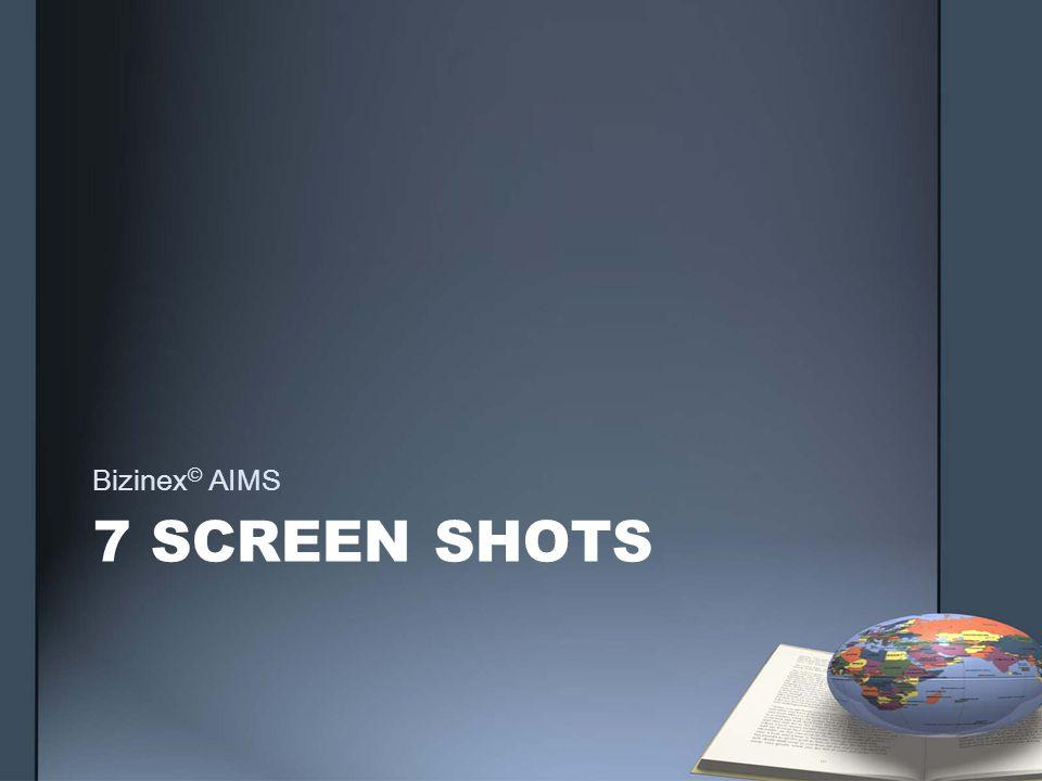 7 SCREEN SHOTS Bizinex © AIMS