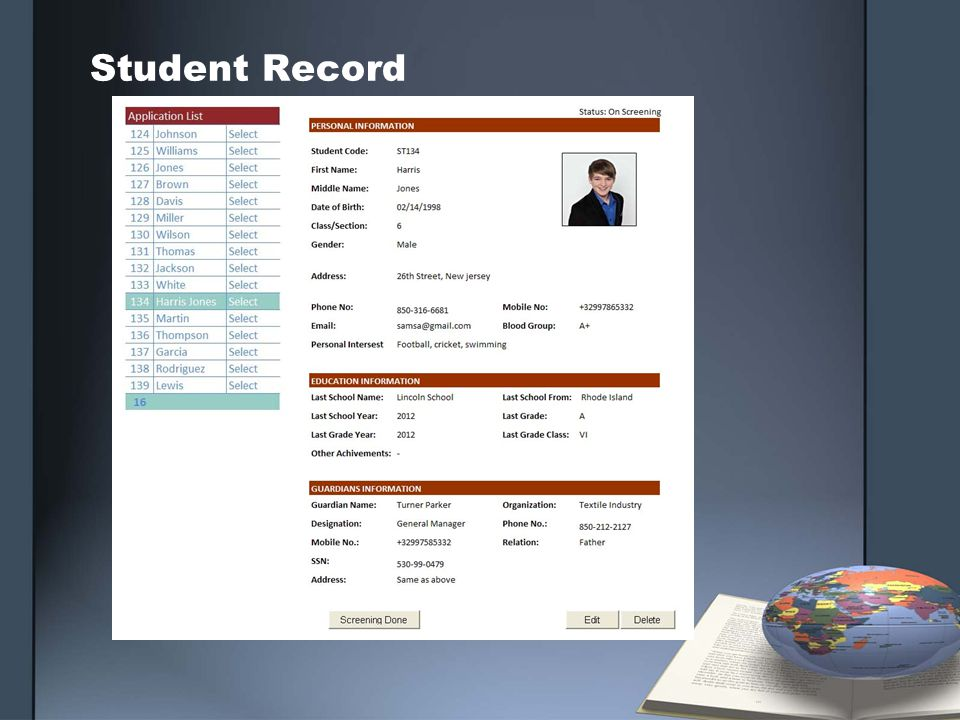 Student Record