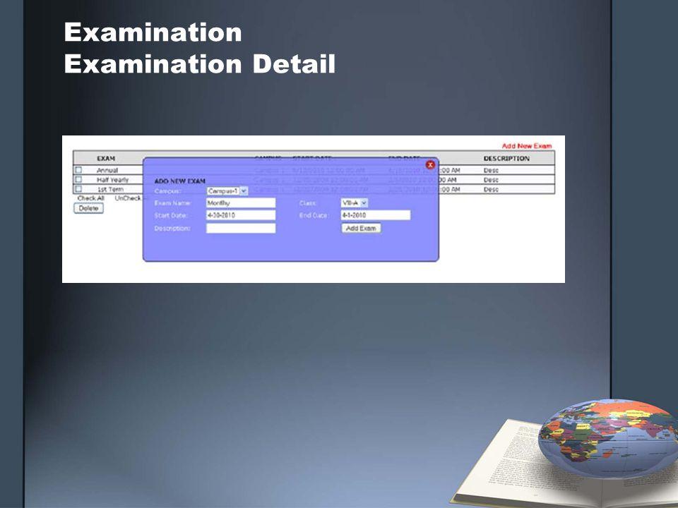 Examination Examination Detail