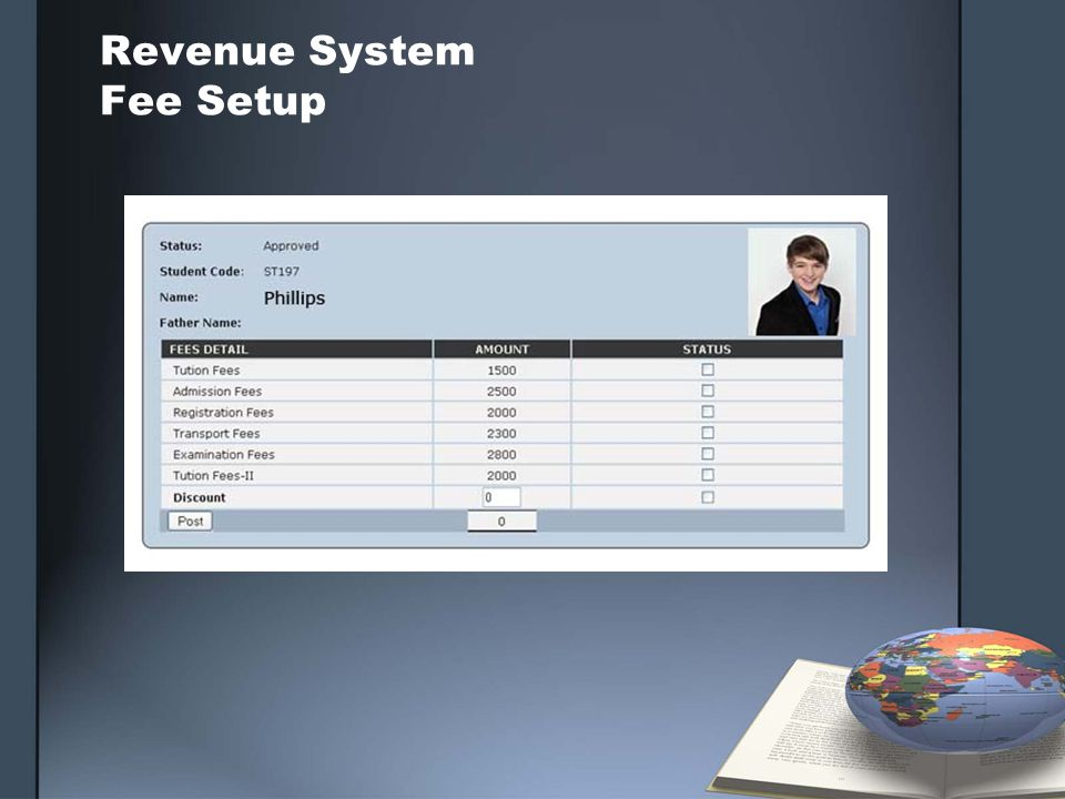 Revenue System Fee Setup