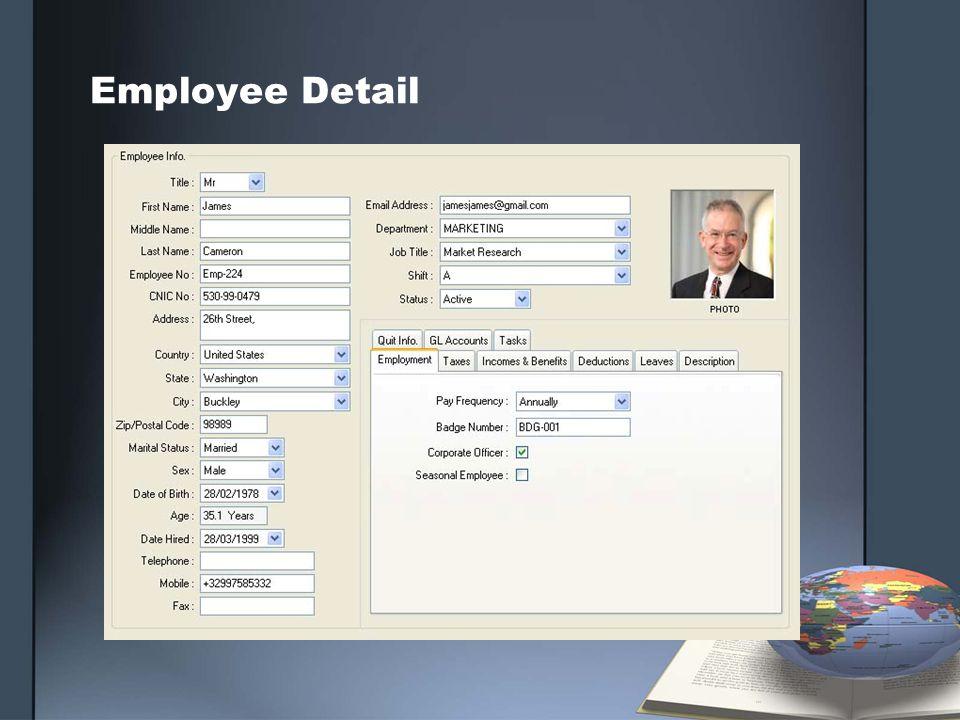 Employee Detail