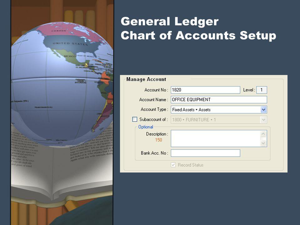 General Ledger Chart of Accounts Setup