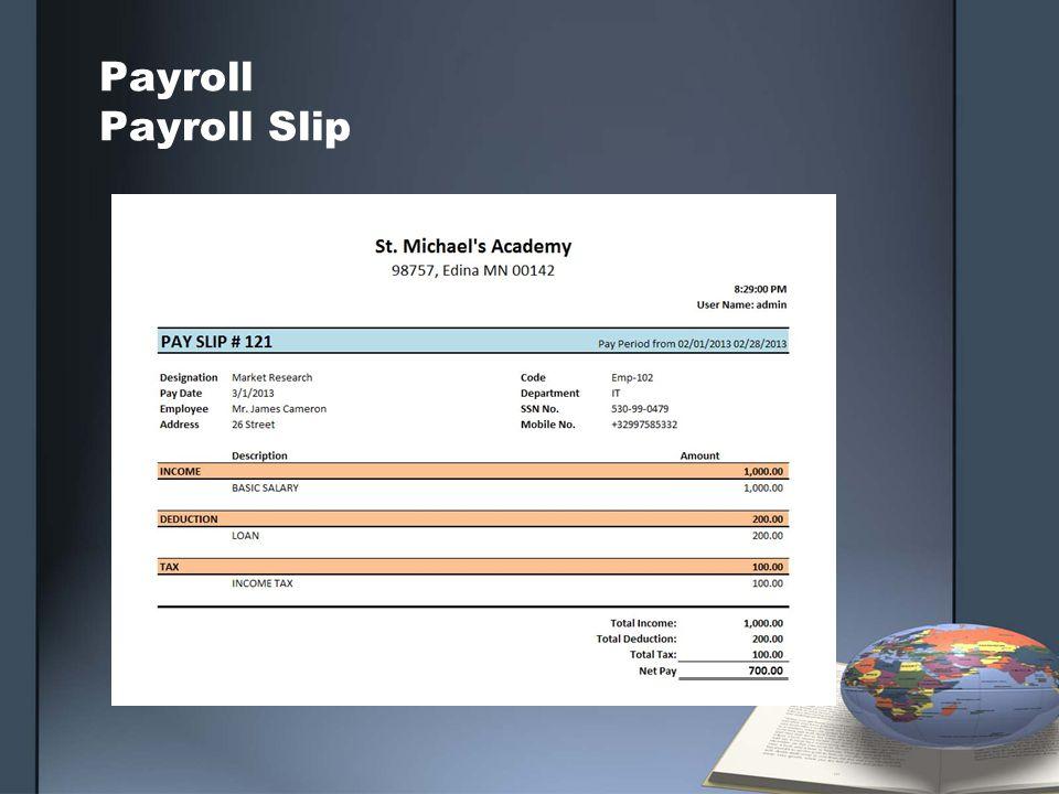 Payroll Payroll Slip