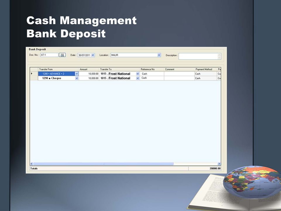 Cash Management Bank Deposit