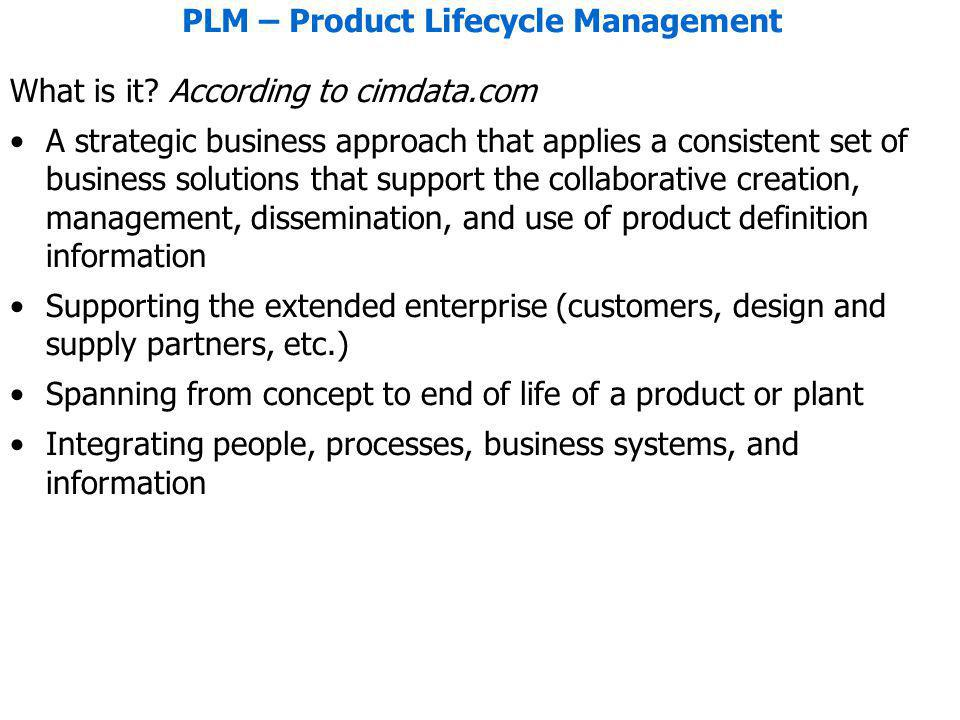 PLM – Product Lifecycle Management What is it.