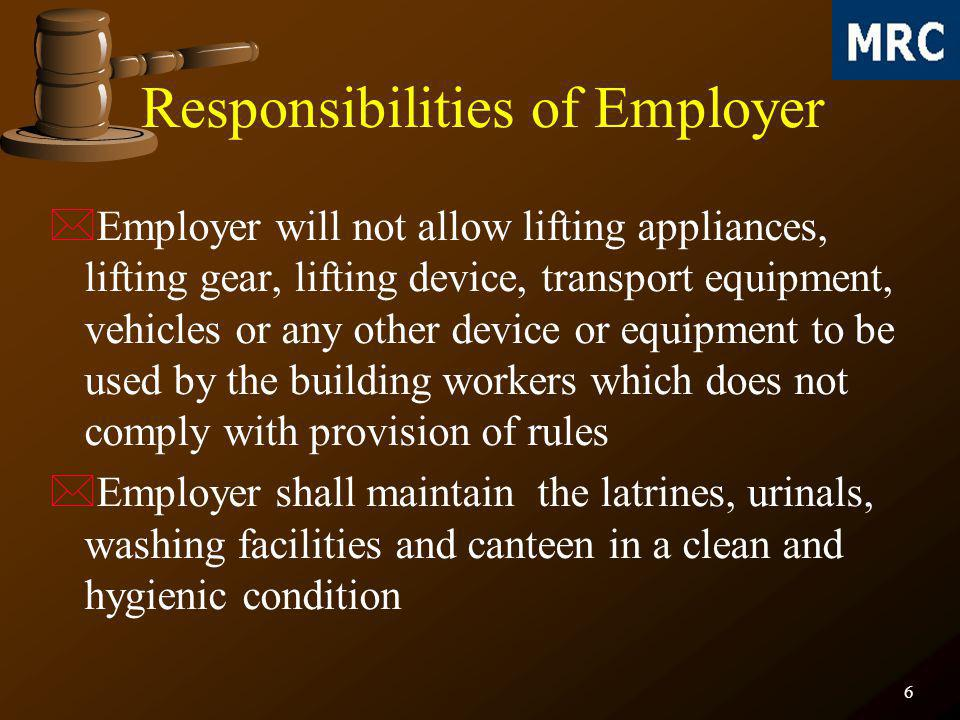 17 *Before commencement of work, adequate measures shall be taken to prevent any worker from coming into physical contact with any electrical equipment or apparatus, machines or live electrical circuit which may cause electrical hazard during the course of his employment *Suitable warning signs shall be displayed and maintained at conspicuous places in Hindi and in a local language understood by the majority of the building workers Electrical Hazards