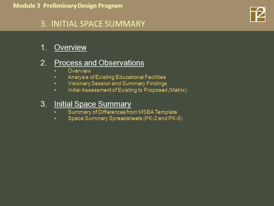 Module 3 Preliminary Design Program 3.
