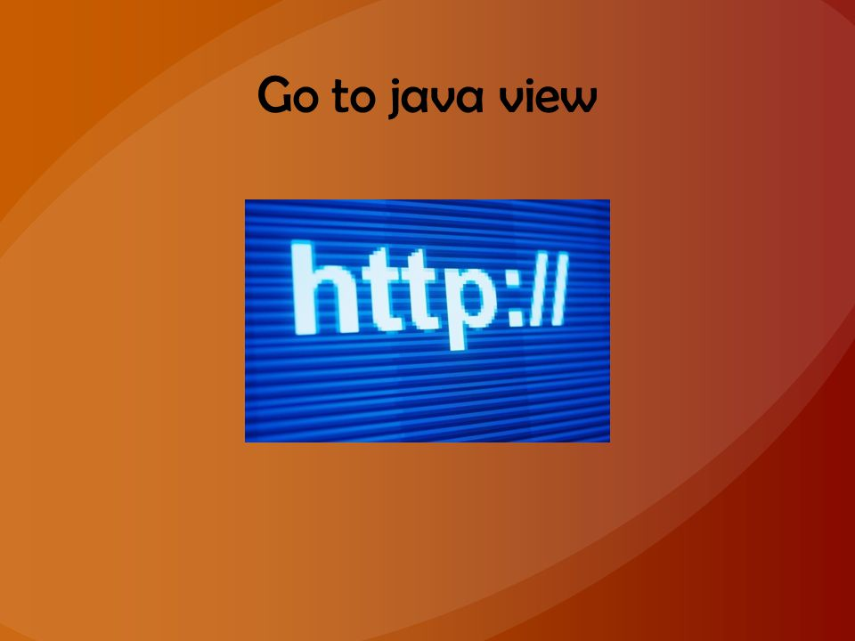 Go to java view