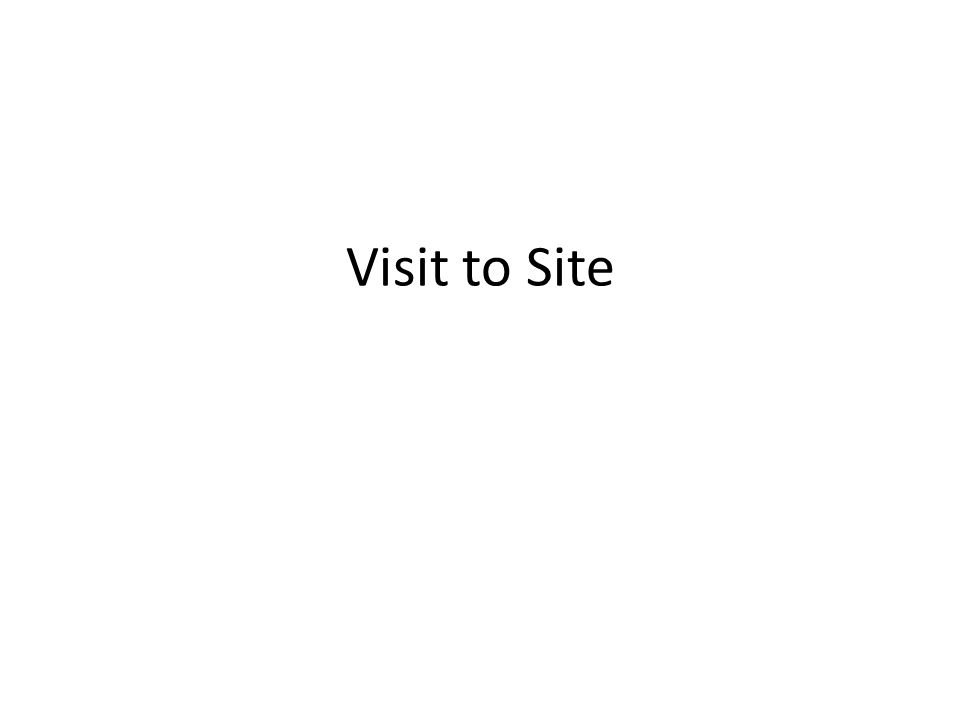 Visit to Site
