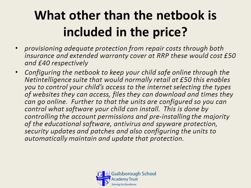 What other than the netbook is included in the price.