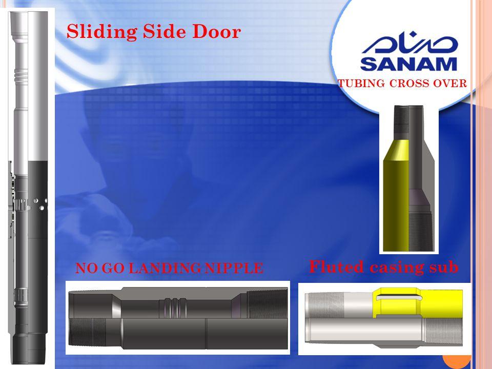 Sliding Side Door NO GO LANDING NIPPLE Fluted casing sub TUBING CROSS OVER