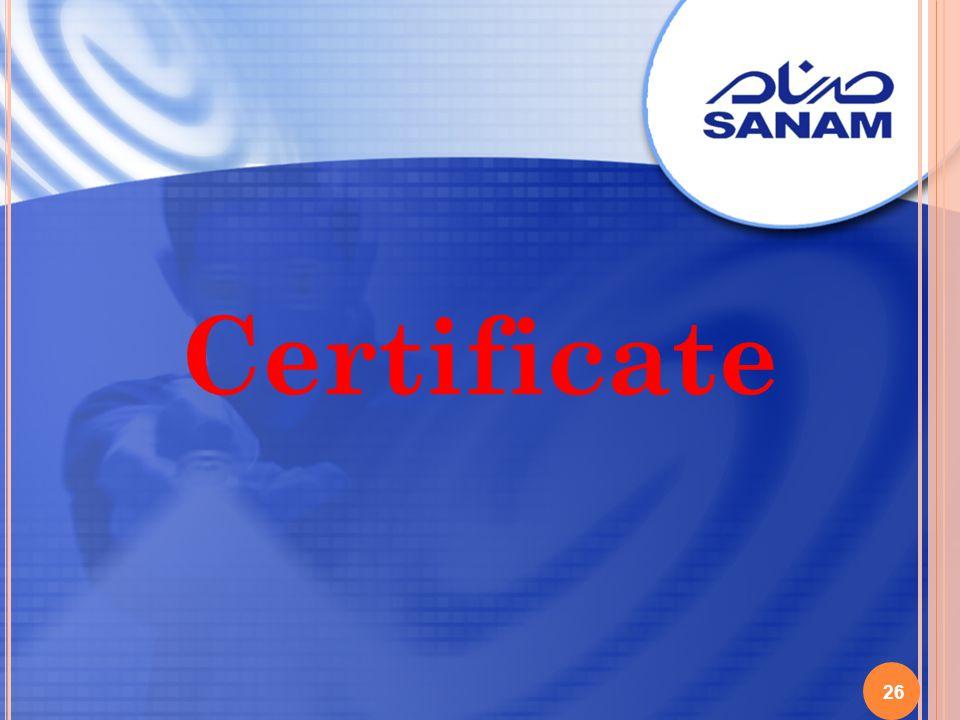 26 Certificate