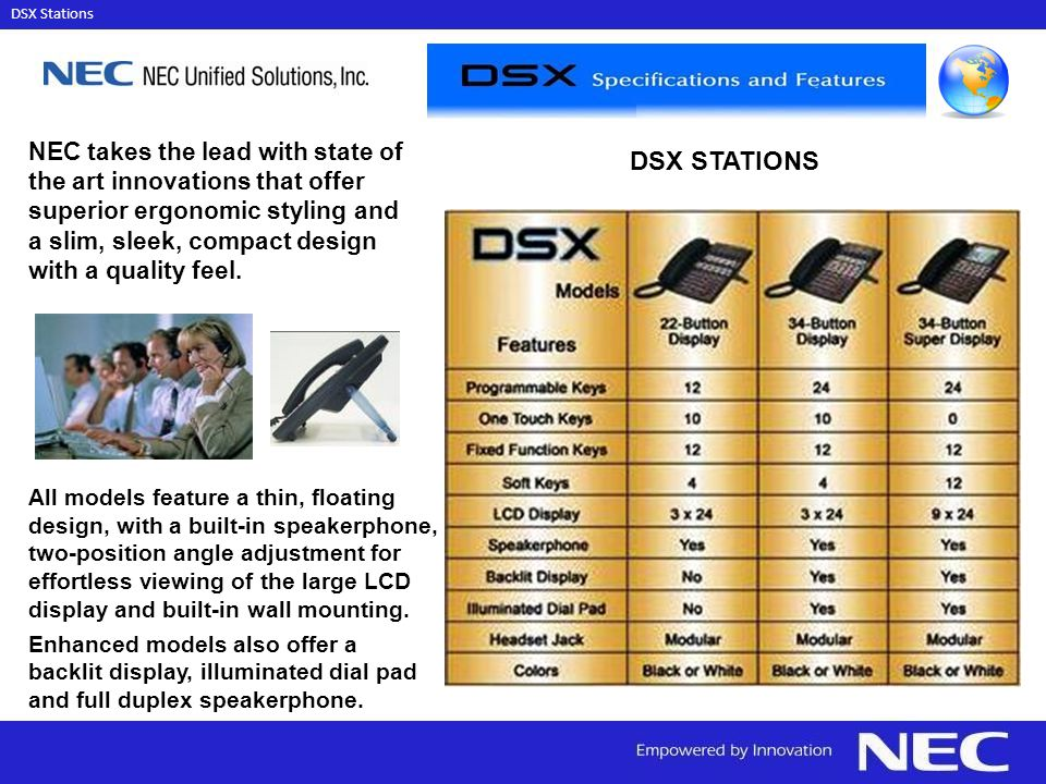 NEC takes the lead with state of the art innovations that offer superior ergonomic styling and a slim, sleek, compact design with a quality feel.