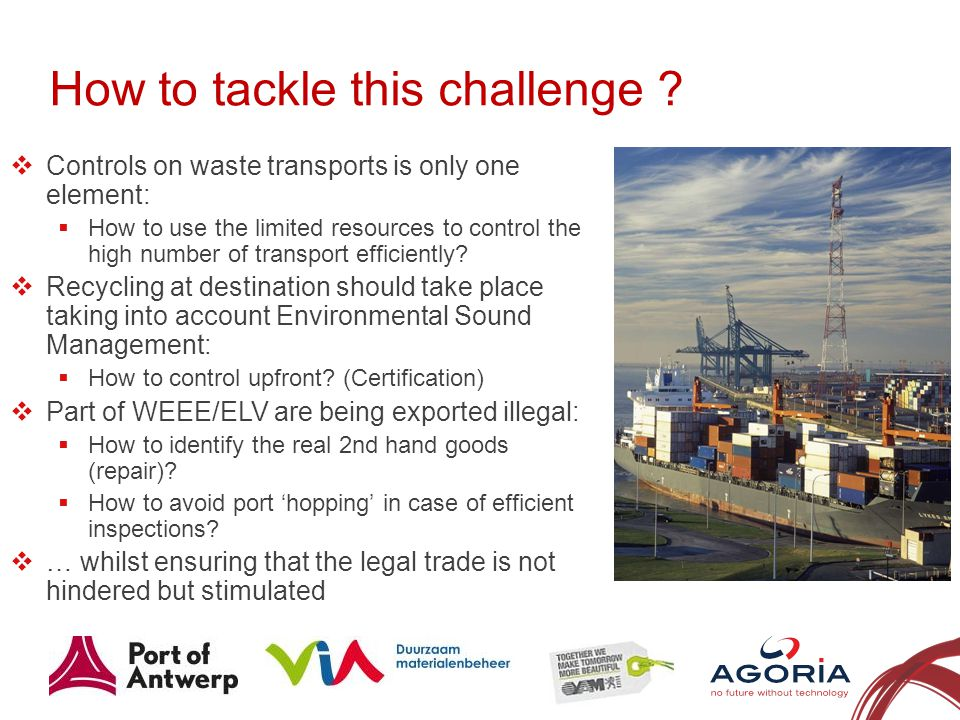 How to tackle this challenge ? 11 Controls on waste transports is only one element: How to use the limited resources to control the high number of tra