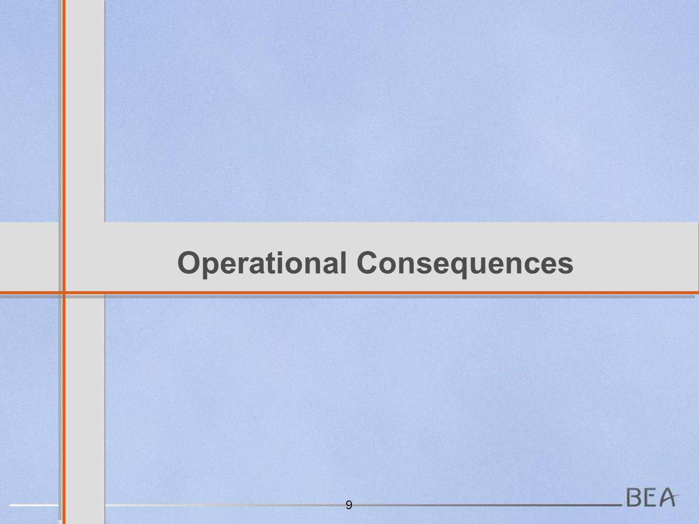 Operational Consequences 9