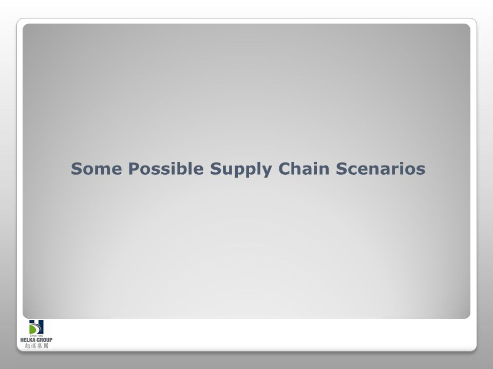 Some Possible Supply Chain Scenarios