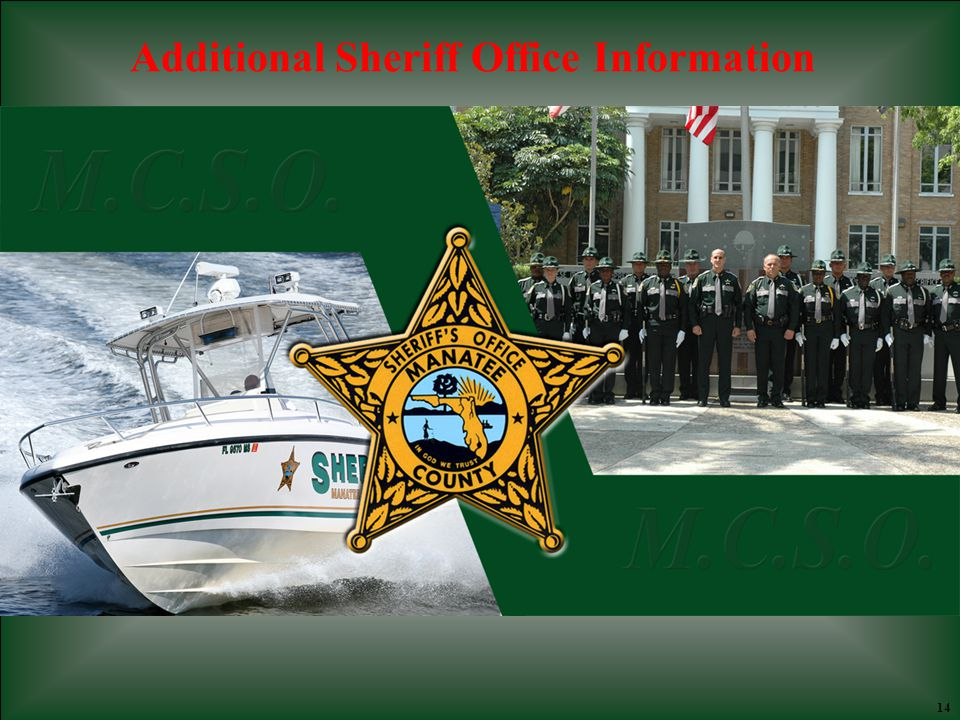 14 A Additional Sheriff Office Information